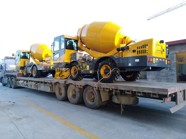 Myanmar - 2 Units HY400 Self-Loading Concrete Mixer Truck