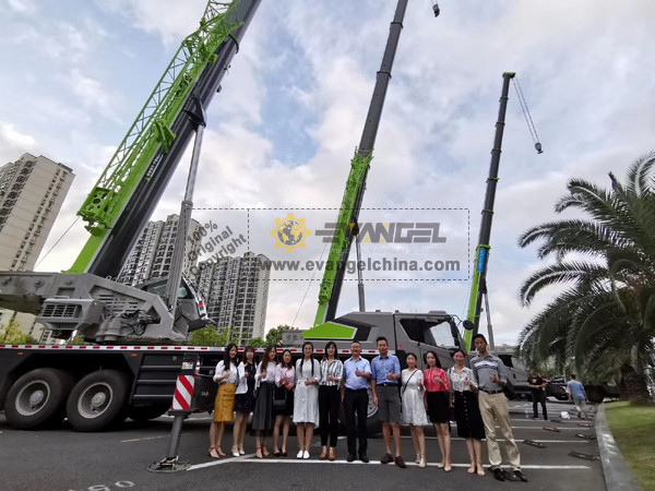 EVANGEL Participated in ZOOMLION Construction Crane Seven New Products Launch Conference